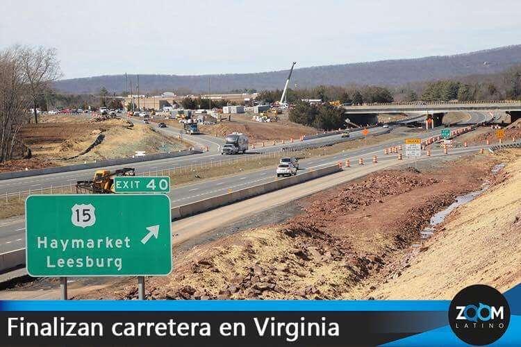 Terminan carretera que aliviaría el tráfico en Virginia