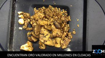 Casi 2 millones de dólares en oro terminan en las alcantarillas de Suiza