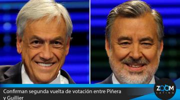 Chile: Confirman segunda vuelta electoral entre Piñera  y Guillier