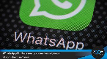 WhatsApp limitara sus opciones en algunos dispositivos móviles