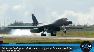 Exjefe del Pentágono alerta de los peligros de la nueva doctrina nuclear de EE.UU.