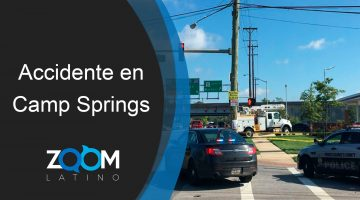 Conductor muere tras accidente en Camp Springs