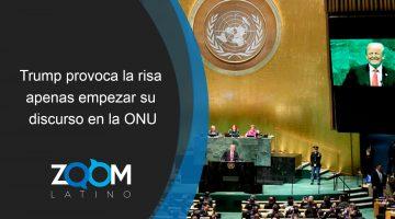 Trump provoca la risa apenas empezar su discurso en la ONU