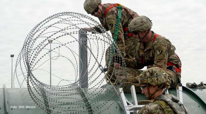 Buscan más presencia militar en la frontera de Estados Unidos con México.