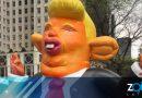 """Baltimore arma un globo gigante """"Trump Rat"""" para recibir al presidente de los EE.UU."""
