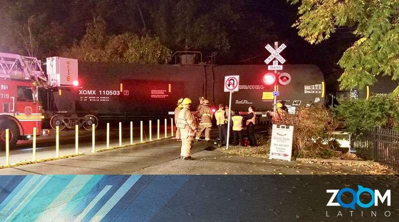 Persona herida luego que un tren colisionó contra su vehículo