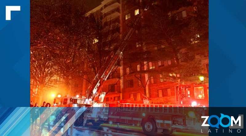 Bomberos controlaron incendio en un edificio y no se reportaron heridos