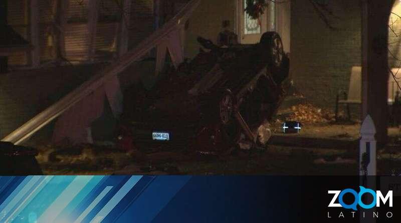 Detectives investigan las razones del accidente en el que una mujer murió al estrellarse contra una casa