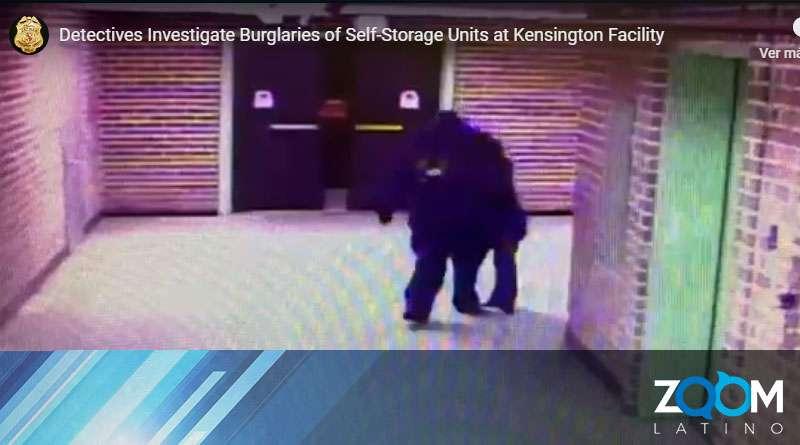 Oficiales de policía buscan a un hombre que robo 47 unidades de almacenamiento