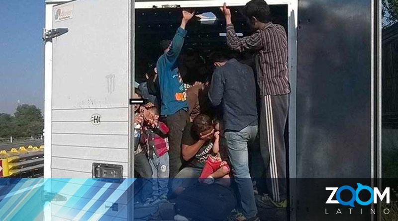 Camión cargado de migrantes sufrió un accidente en México