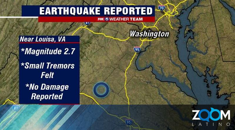 Servicio Geológico reportó sismo en Virginia