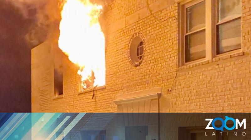 Autoridades investigan un incendio en un departamento la madrugada del domingo