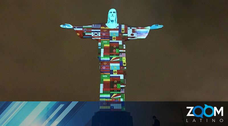 En Brasil se rindió tributo al personal de la salud iluminando al Cristo Redentor