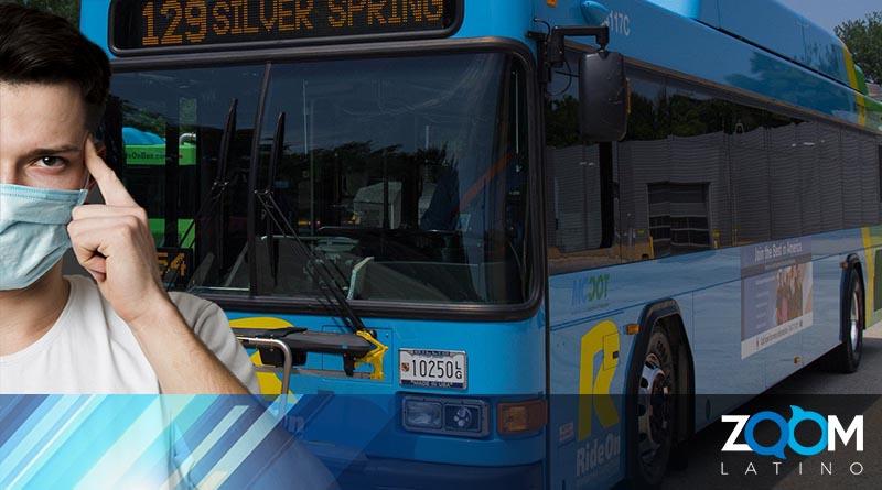 Departamento de Transporte del Condado de Montgomery anunció a los pasajeros el uso de máscaras faciales