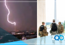 VIDEO: Miembros militares alcanzados por un rayo