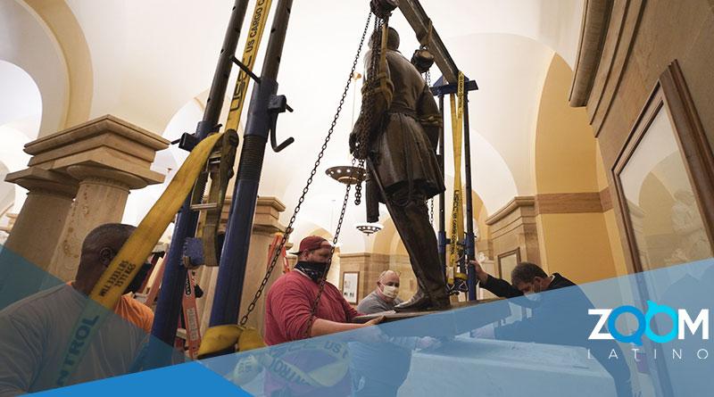 Virginia retira estatua confederada del Capitolio de Estados Unidos