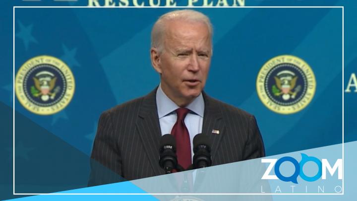 Biden hará un llamado para avanzar el voto del paquete de estímulo