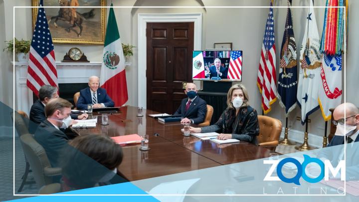 Reunión virtual entre el presidente Biden y el López Obrador