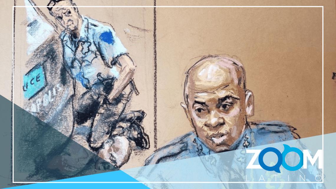 Médico forense que testifica para la defensa del oficial Chauvin acusado de encubrir un caso