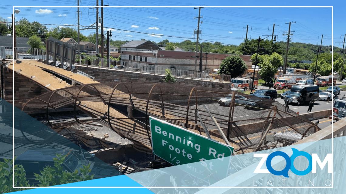 ÚLTIMA HORA: Colapsa un puente peatonal en el Distrito
